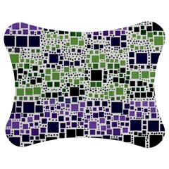Block On Block, Purple Jigsaw Puzzle Photo Stand (Bow)