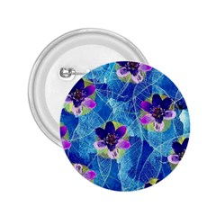 Purple Flowers 2.25  Buttons
