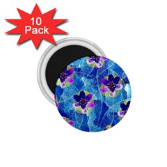 Purple Flowers 1.75  Magnets (10 pack)
