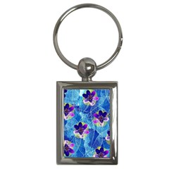 Purple Flowers Key Chains (Rectangle)