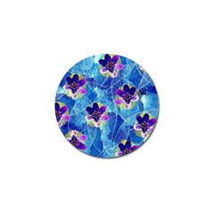 Purple Flowers Golf Ball Marker