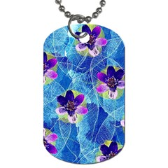Purple Flowers Dog Tag (Two Sides)