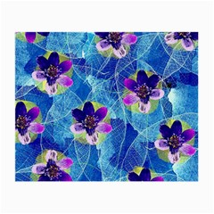 Purple Flowers Small Glasses Cloth