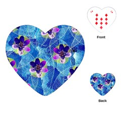 Purple Flowers Playing Cards (Heart)