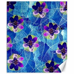 Purple Flowers Canvas 20  x 24