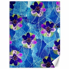 Purple Flowers Canvas 36  X 48   by DanaeStudio