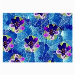 Purple Flowers Large Glasses Cloth (2 Side) by DanaeStudio