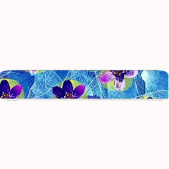 Purple Flowers Small Bar Mats by DanaeStudio