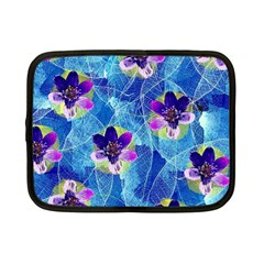 Purple Flowers Netbook Case (Small)