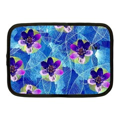 Purple Flowers Netbook Case (Medium)