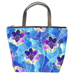 Purple Flowers Bucket Bags