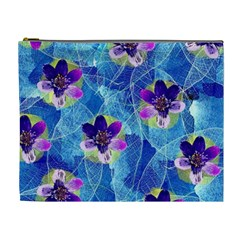 Purple Flowers Cosmetic Bag (XL)