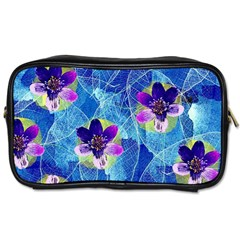 Purple Flowers Toiletries Bags 2-Side