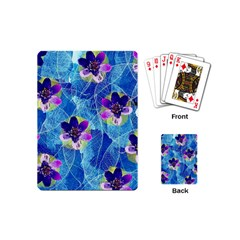 Purple Flowers Playing Cards (mini)  by DanaeStudio