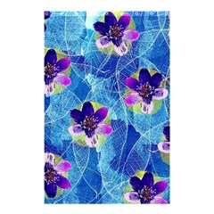 Purple Flowers Shower Curtain 48  X 72  (small)  by DanaeStudio