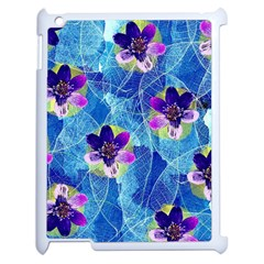 Purple Flowers Apple iPad 2 Case (White)