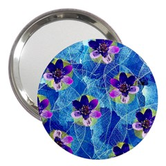 Purple Flowers 3  Handbag Mirrors