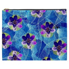 Purple Flowers Cosmetic Bag (XXXL)
