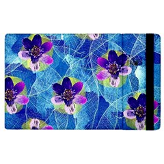 Purple Flowers Apple iPad 2 Flip Case