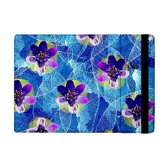 Purple Flowers Apple Ipad Mini Flip Case