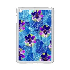 Purple Flowers Ipad Mini 2 Enamel Coated Cases by DanaeStudio