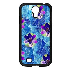 Purple Flowers Samsung Galaxy S4 I9500/ I9505 Case (Black)
