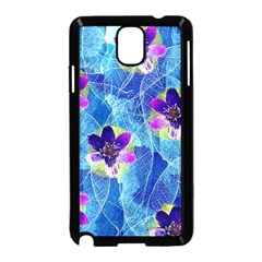 Purple Flowers Samsung Galaxy Note 3 Neo Hardshell Case (Black)