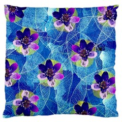 Purple Flowers Standard Flano Cushion Case (one Side) by DanaeStudio