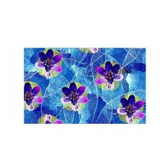Purple Flowers Satin Wrap