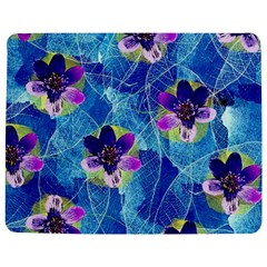 Purple Flowers Jigsaw Puzzle Photo Stand (Rectangular)