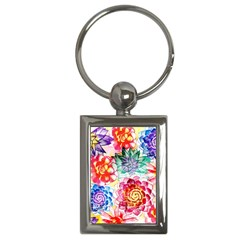 Colorful Succulents Key Chains (Rectangle)
