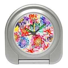 Colorful Succulents Travel Alarm Clocks