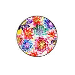 Colorful Succulents Hat Clip Ball Marker (4 pack)