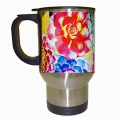 Colorful Succulents Travel Mugs (White)