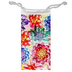 Colorful Succulents Jewelry Bags
