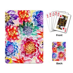Colorful Succulents Playing Card