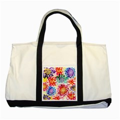 Colorful Succulents Two Tone Tote Bag