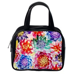 Colorful Succulents Classic Handbags (One Side)