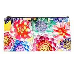 Colorful Succulents Pencil Cases