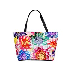 Colorful Succulents Shoulder Handbags