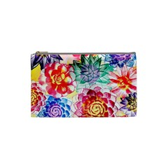 Colorful Succulents Cosmetic Bag (Small)
