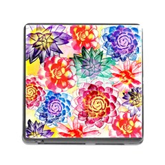 Colorful Succulents Memory Card Reader (Square)
