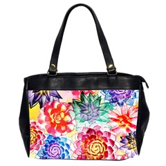 Colorful Succulents Office Handbags (2 Sides)