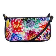 Colorful Succulents Shoulder Clutch Bags