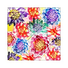 Colorful Succulents Acrylic Tangram Puzzle (6  X 6 ) by DanaeStudio