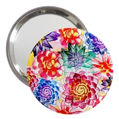 Colorful Succulents 3  Handbag Mirrors