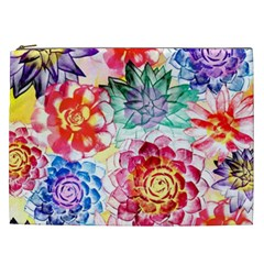 Colorful Succulents Cosmetic Bag (XXL)
