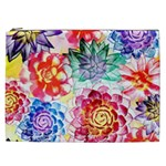 Colorful Succulents Cosmetic Bag (XXL)  Front