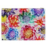 Colorful Succulents Cosmetic Bag (XXL)  Back