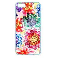 Colorful Succulents Apple Seamless Iphone 5 Case (color) by DanaeStudio